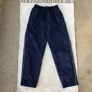 Vintage Wilson navy track pants with white stripe